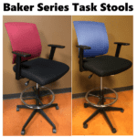 Baker Series Mesh Back Office Stools