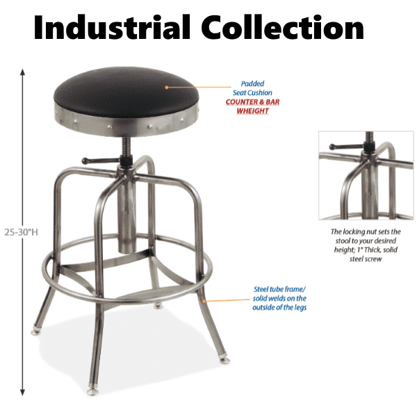 Height Stool - Anderson Worth Office Furniture