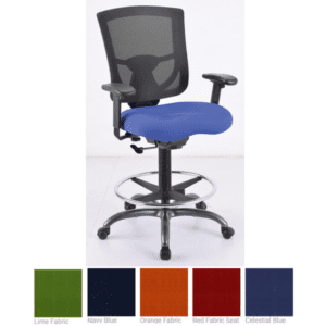 CoolMesh Pro Collection - Mesh Back Task Stool with Adjustable Arms