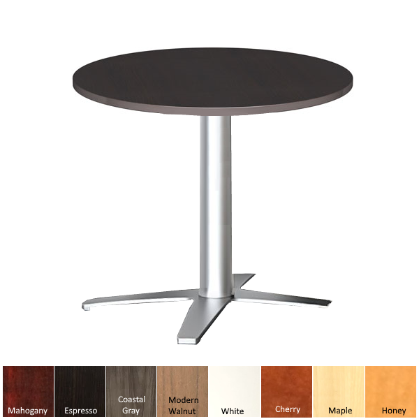 Round Cafe Table with Prong Base