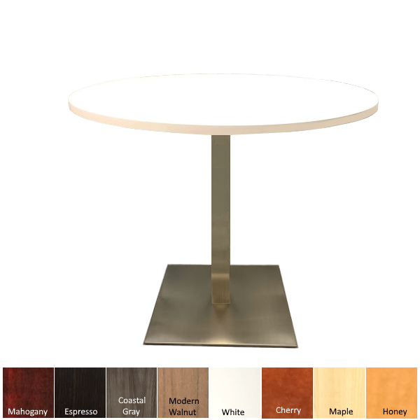 Round Table with Steel Platform Base