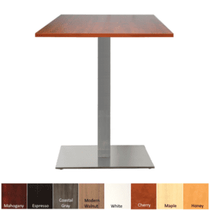 Standing Height Break Room Table - Square Top & Base