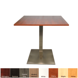 Square Break Room Table with Platform Base