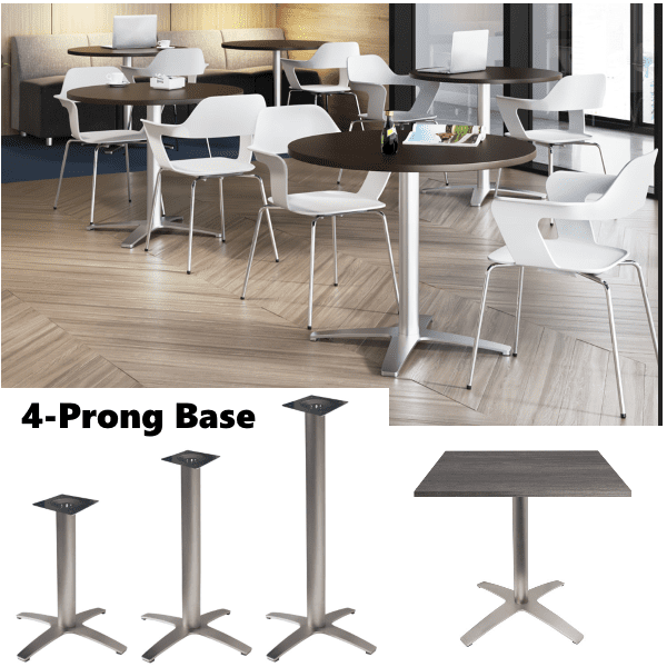PL Contemporary 4-Prong Aluminum Bases