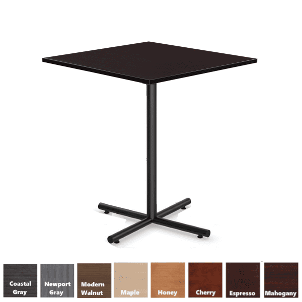PL Square Cafe Height Table in Espresso