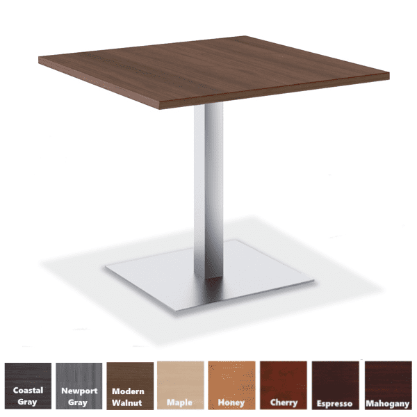 PL Square Conference Table with Square Platform Base