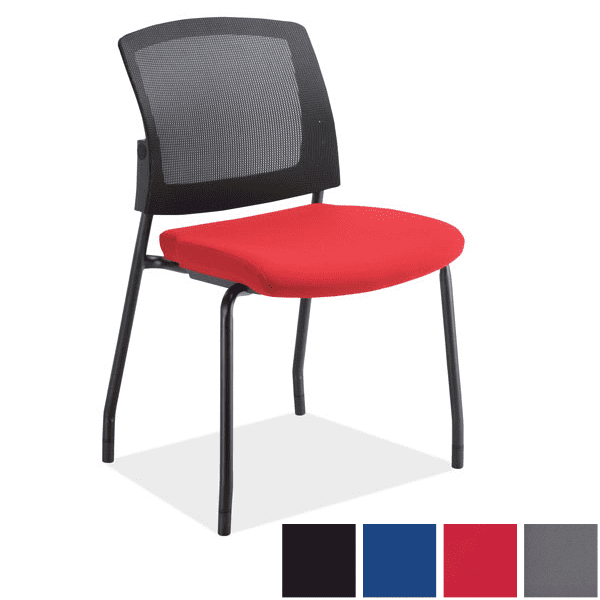 3129 Armless Micro Mesh Back Guest Chair