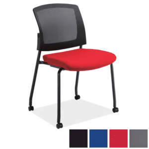 Red Armless Training Room Chair