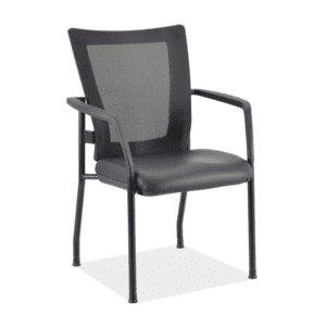 Black Vinyl Guest Chair