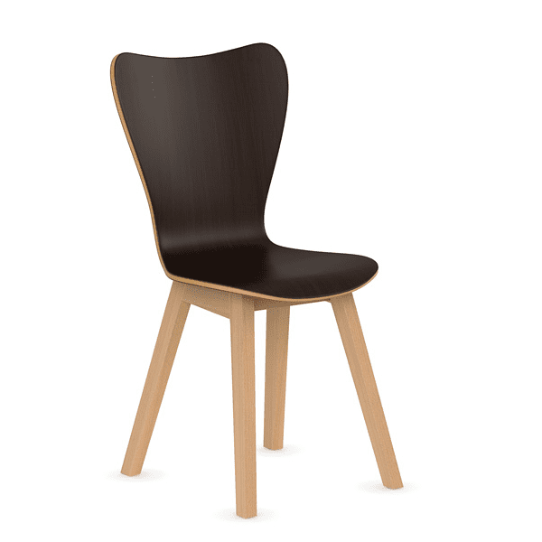 Espresso Wooden Break Room Chair