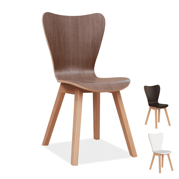 COE Bleecker Street Cafe Walnut Chairs - 3 Colors