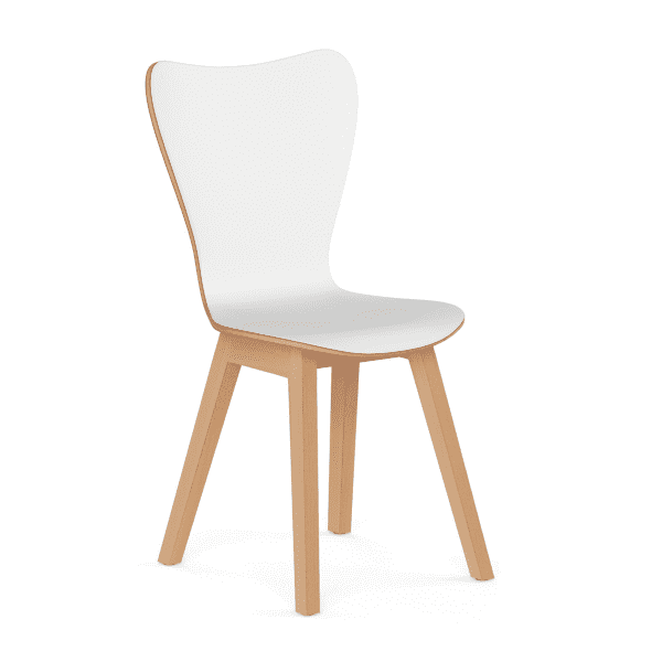 White Wooden Break Room Chair