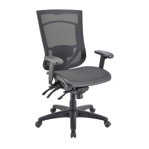 CoolMesh Pro All Black Mesh Back and Seat Task Chair