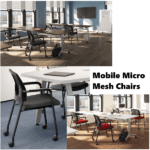 Mobile Micro Mesh Training Room Chairs