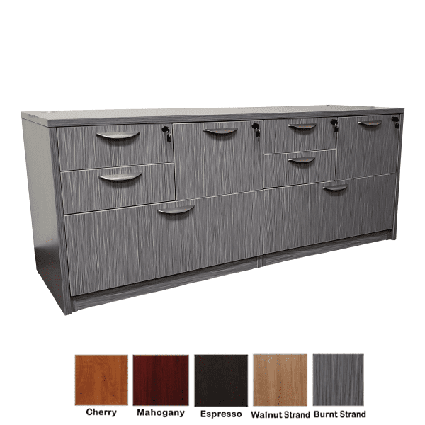 8-Drawer Lateral Combination File Cabinet