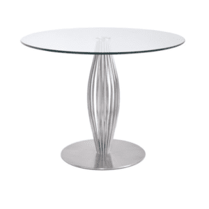 "42"" round glass table"