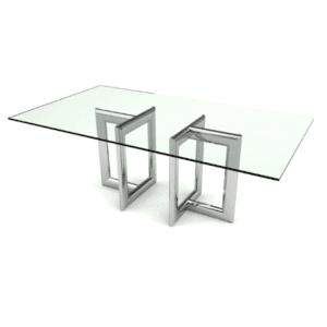 Rectangular Conference Table - Clear Glass To