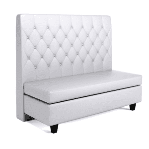 White Tufted Booth