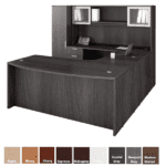 Desk & Hutch Set Bow Front Desk