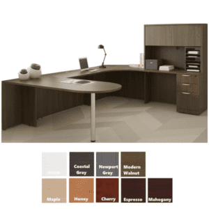 PL U Desk with Small Hutch