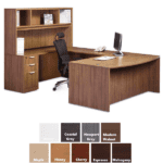 Right Handed U Desk and Hutch