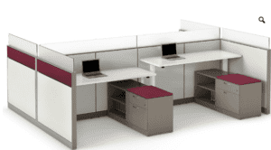Employees working station furniture