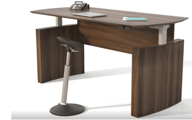 63″ Medina™ Height Adjustable Curved Desk