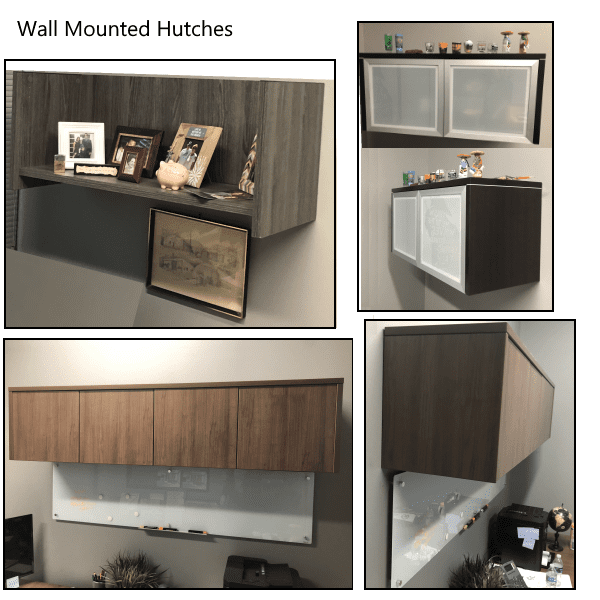 Performance L Shape Bullet Benching Desk With Wall Mount