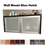 Wall Mount Storage Hutch - Frosted Glass Doors