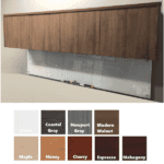 Wall Mount Door Hutch with Glass Board