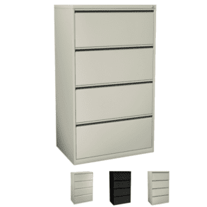 4 Drawer Steel Lateral File