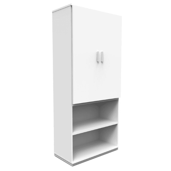 """71"""" Tall storage bookcase with doors"""