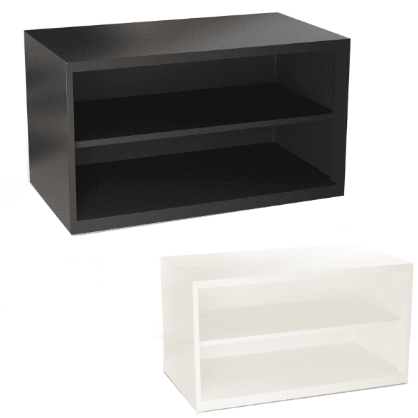 Low Open 2-Shelf Lateral Storage Cases