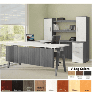 Coastal Gray Modesty Panel on U-Desk