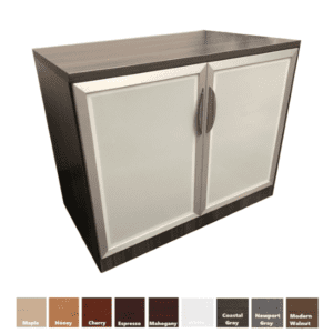 "36"" tall frosted glass door cabinet"
