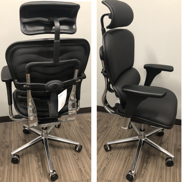 Raynor Eurotech Seating Ergo Human Executive Chair - All Black Leather Model