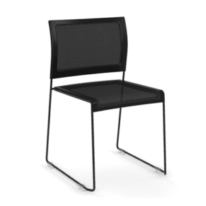 Black Mesh Stack Chair