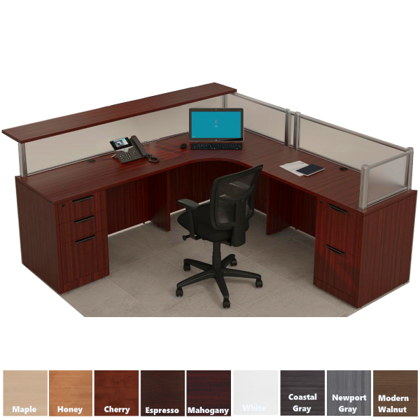 Performance Laminate Reception Desk - Right Return