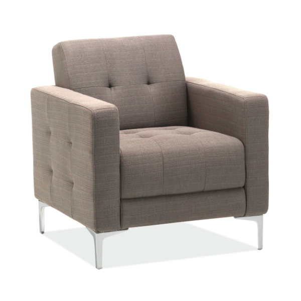 Taupe Fabric Reception Chair