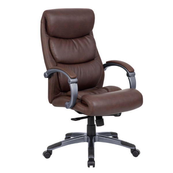 High Back Chair in Brown