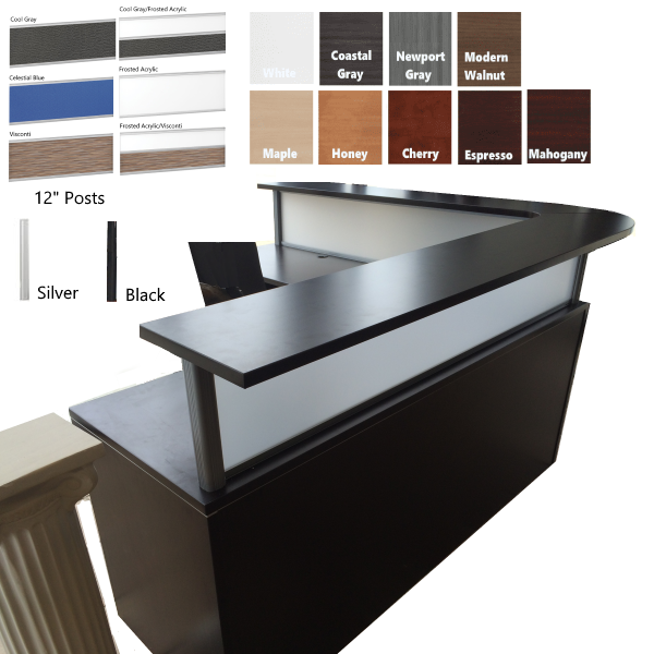 Curved Reception Desk with Flush Front - Borders from COE NDI Furniture