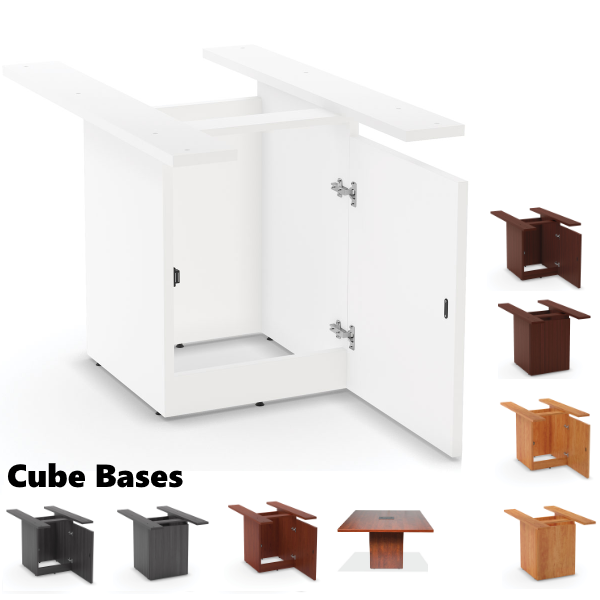 Cubed Base for Standard Height Tables