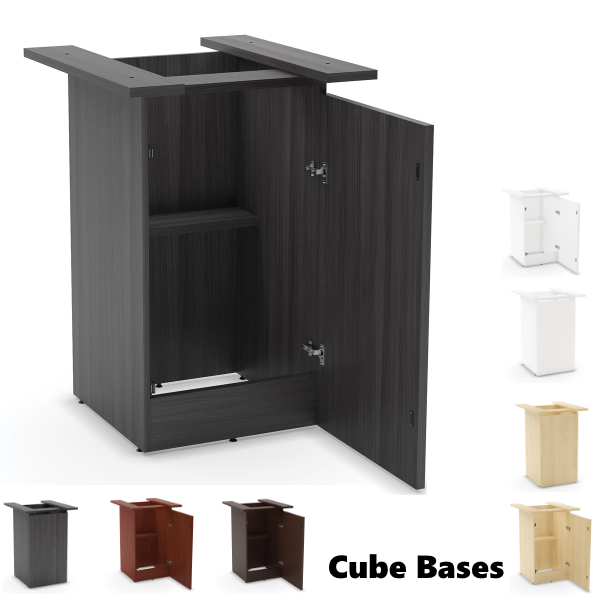 Cubed Standing Bases for Tables