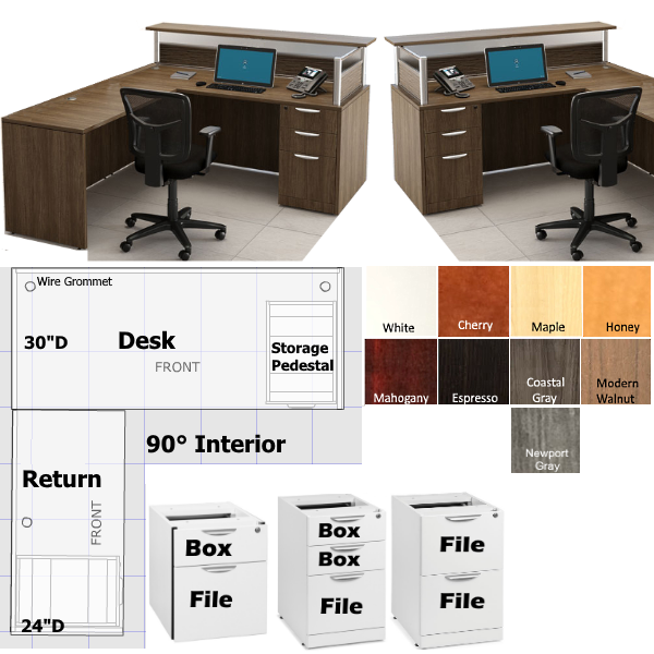 "66"" PL Reception Desk Borders Collection"