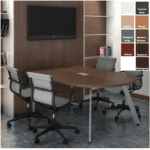 Half Oval Conference Table