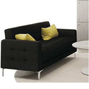 Black Fabric Sofa 9074