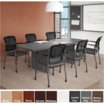 "PL235 71""W Conference Table - Boat Shaped Table"