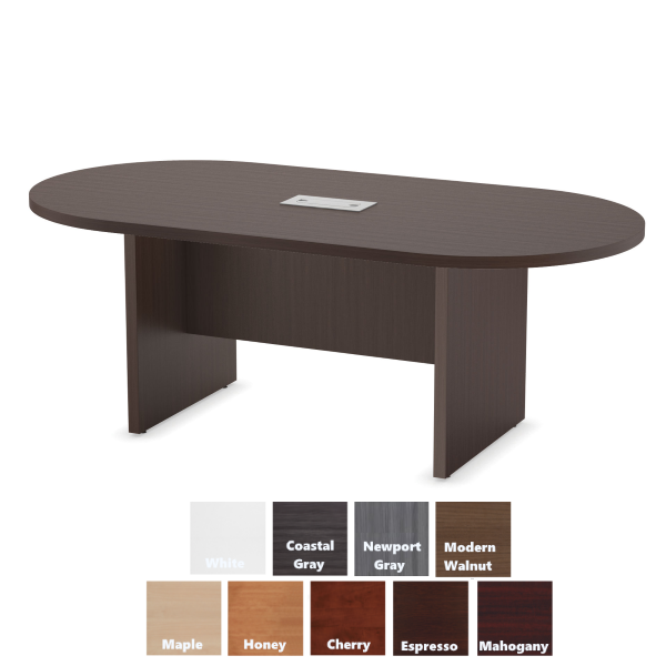 PL135 Espresso Oval Conference Table