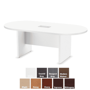 "135 71""W Oval Conference Table - White Finish - PL135"