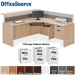 Performance Laminate Office Source Interior Curved Reception Desk